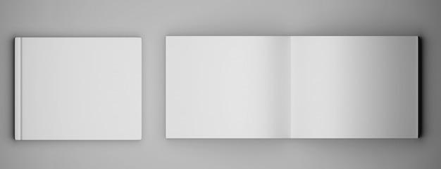 Revista de folleto cuadrado en blanco