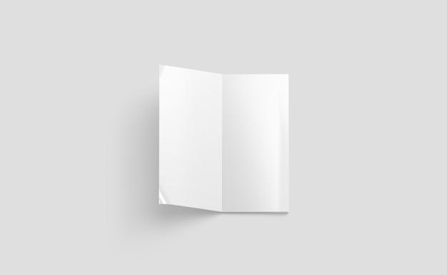 Revista rectangular abierta en blanco blanco