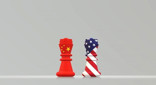 Rey ajedrez china vs rey ajedrez américa