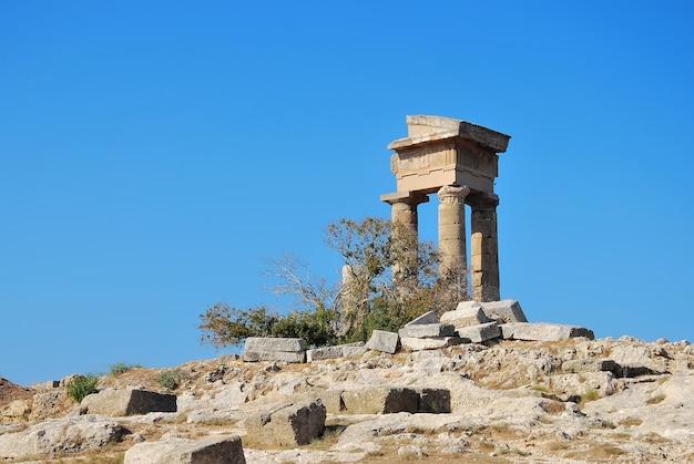 Rhodes landmark acropolis