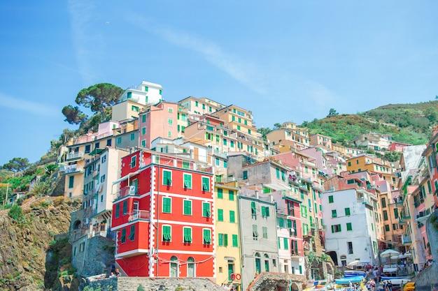 Riomaggiore en cinque terre, liguria, italia
