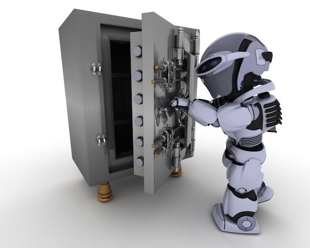 Robot con una computadora