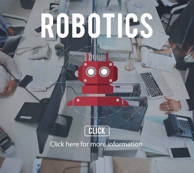 Robot cyborg ai robotics concepto de android