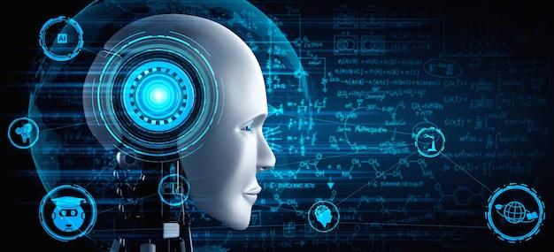 Robot humanoide con ingeniería gráfica.