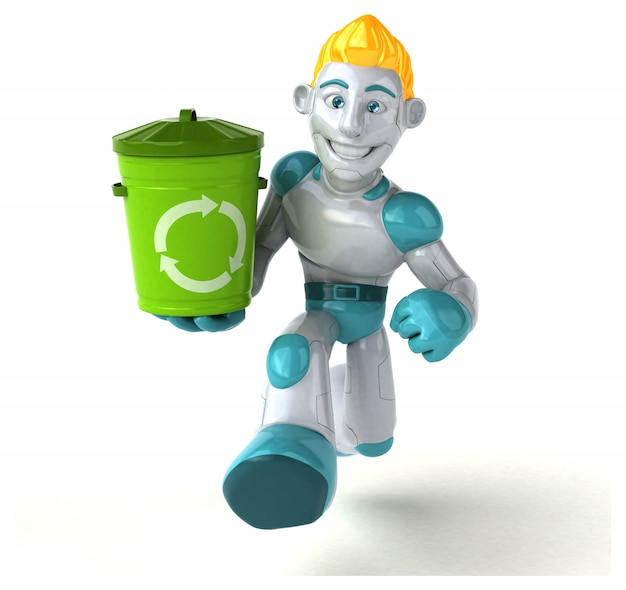 Robot - ilustración 3d