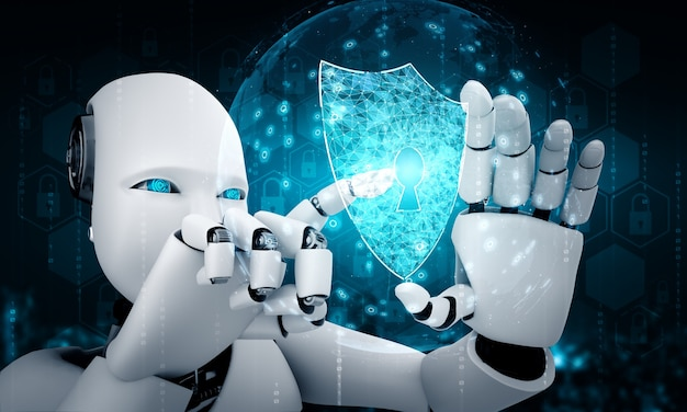 Robot de inteligencia artificial que utiliza seguridad cibernética para proteger la privacidad de la información