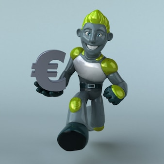Robot verde - ilustración 3d