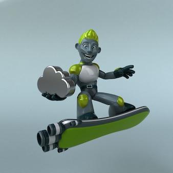 Robot verde - personaje 3d