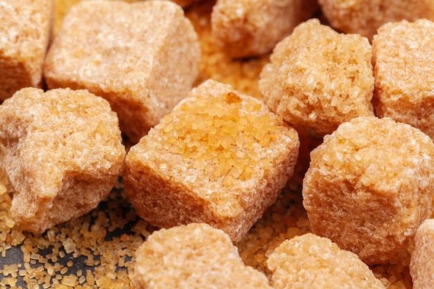 Rocas de azúcar de cerca