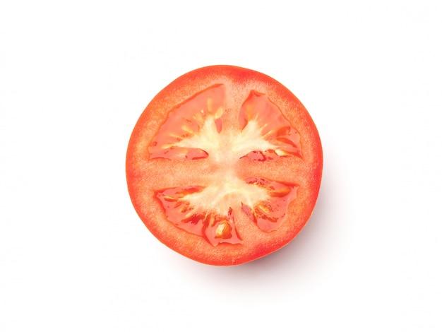 Rodaja de tomate aislado en blanco