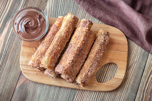 Rollitos de tostadas francesas