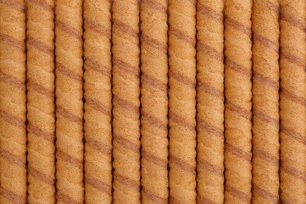 El rollo de oblea se pega como fondo, vista desde arriba.
