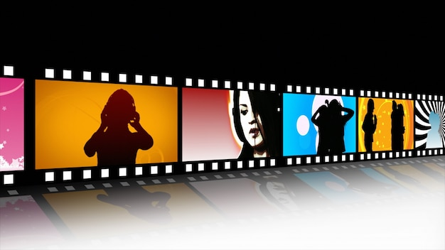 Rollo de película de música y danza