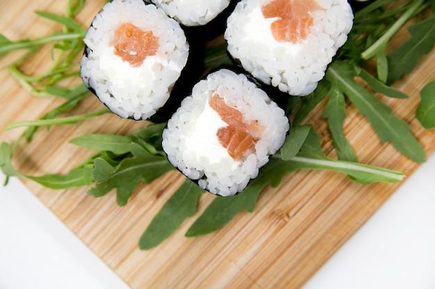 Rollos de cocina japonesa