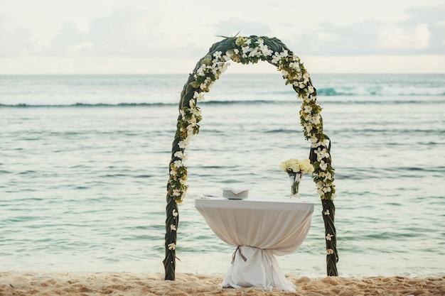Romántico acontecimiento, boda, vendimia, flor
