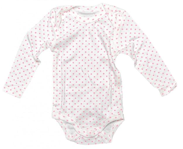 Ropa de bebé aislado sobre fondo blanco.