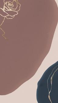 Rosa de oro sobre fondo de tono tierra marrón