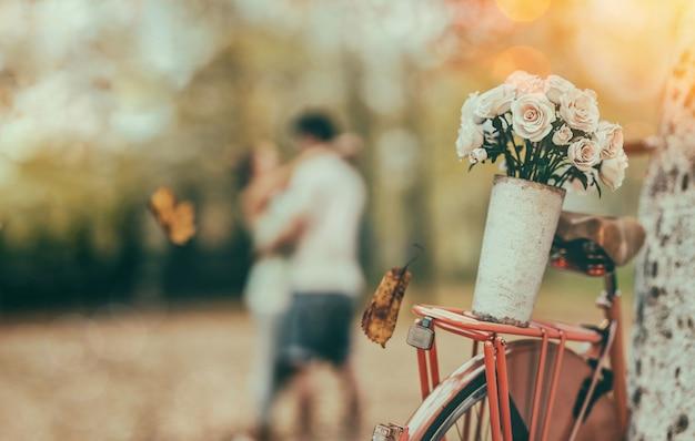 Rosas en bicicleta