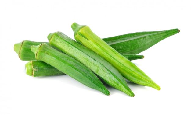 Roselle verde sobre blanco