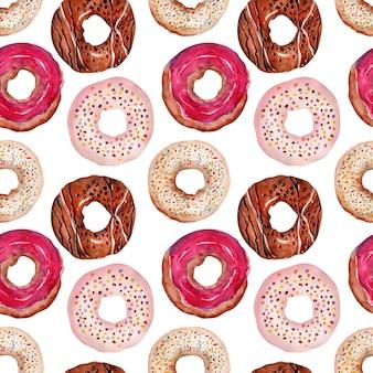 Rosquillas dulces con chispas y glaseado
