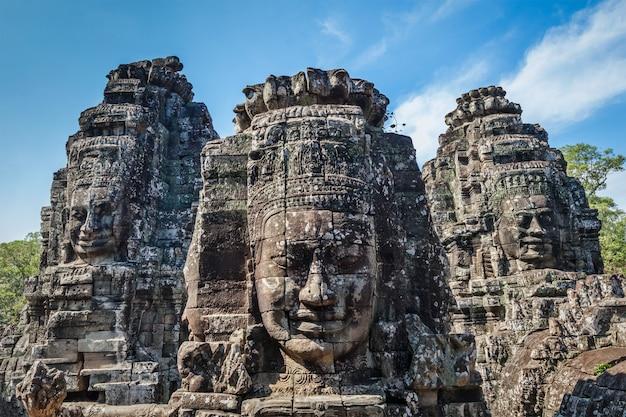 Rostros del templo bayon, angkor, camboya