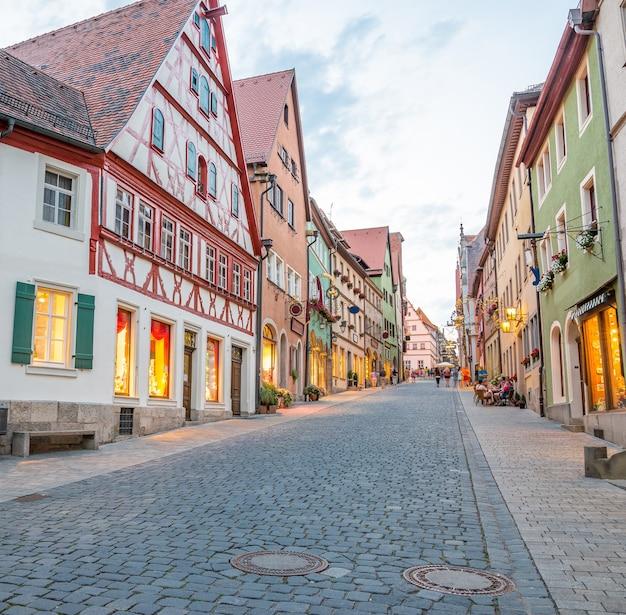 El rothenburg ob der tauber una ciudad en baviera, alemania