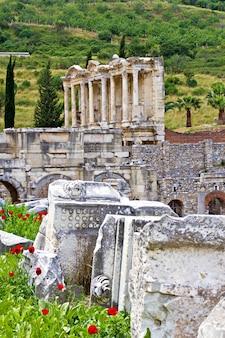 Ruinas de la antigua ciudad de éfeso en turquía