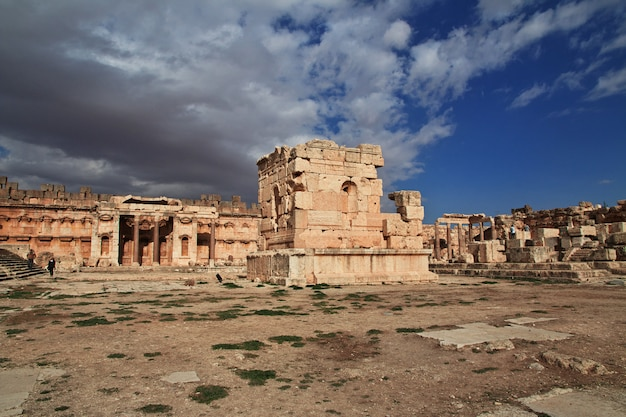 Ruinas antiguas de baalbek, líbano