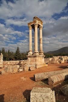 Ruinas romanas en anjar, líbano