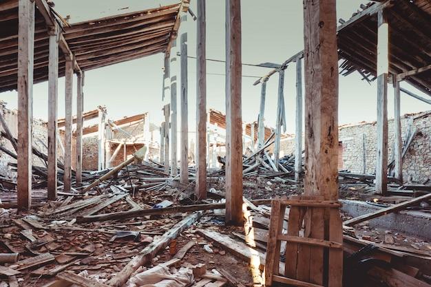 Las ruinas de las tiendas de sal de imón.