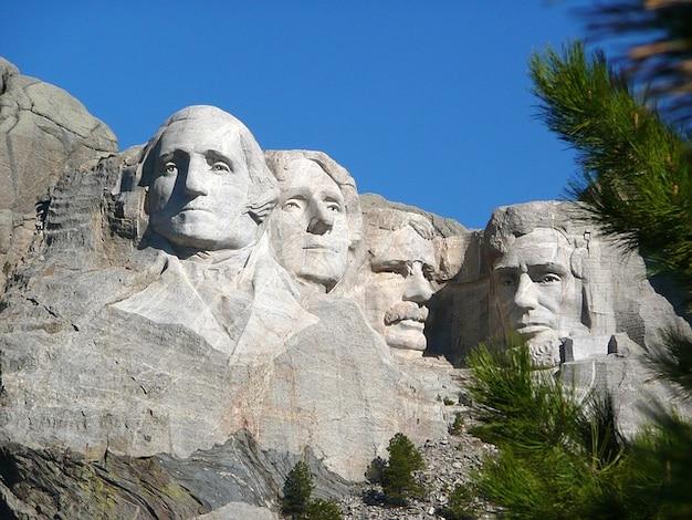 Rushmore presidentes de dakota del sur montaje america