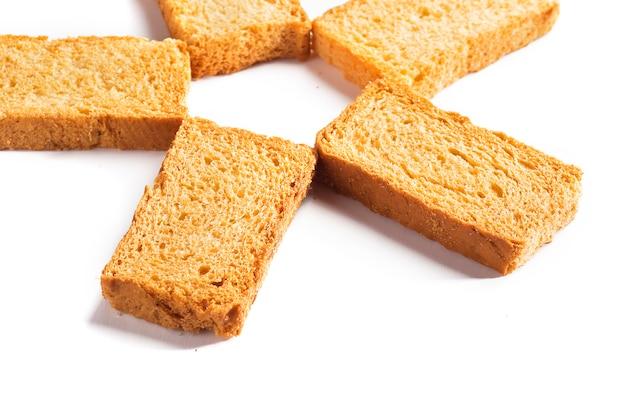 Rusk o tostadas en blanco