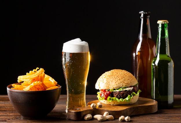 Sabrosa composición de cerveza americana