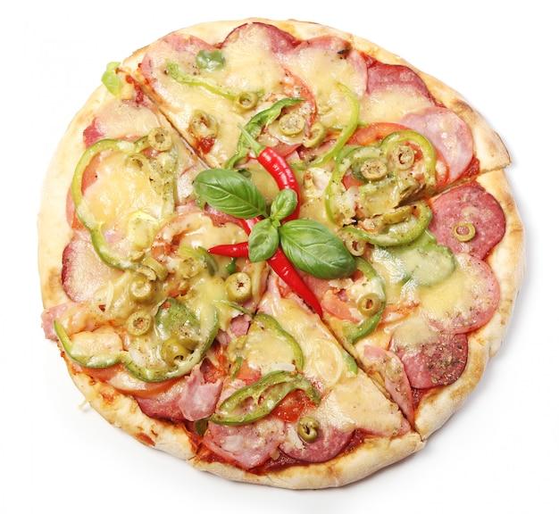 Sabrosa pizza con pepperoni
