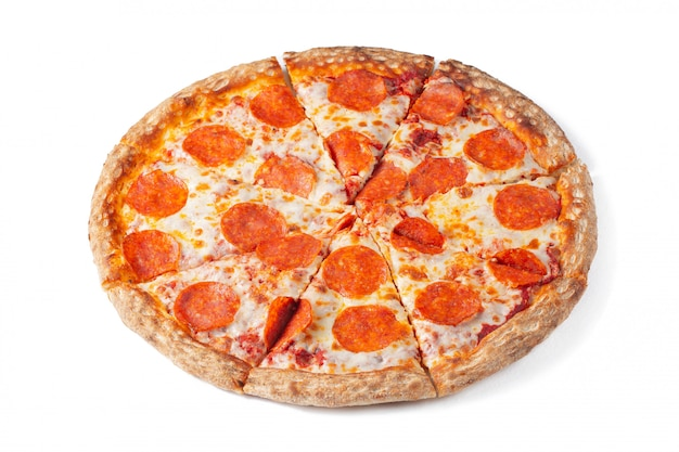 Sabrosa pizza de pepperoni.