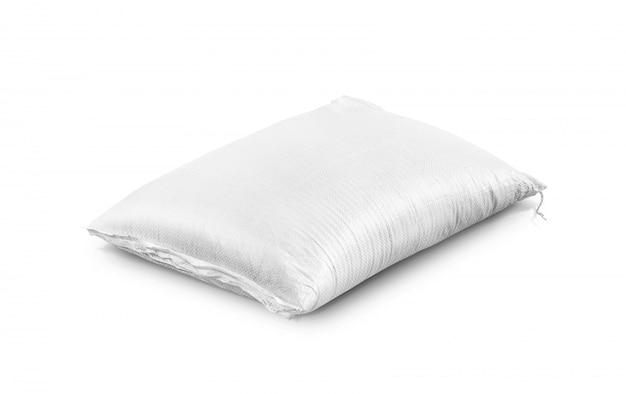 Saco de arroz, producto agrícola aislado.