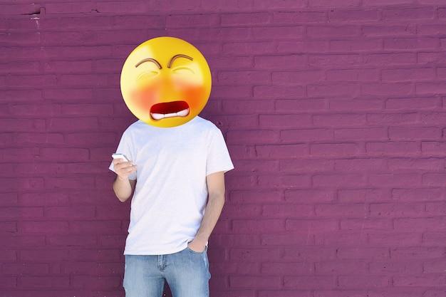 Sad emoji head man.