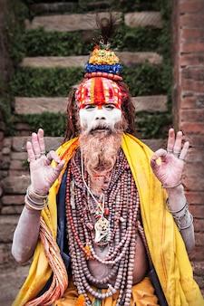Sadhu en el templo de pashupatinath