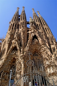 Sagrada familia en barcelona, españa