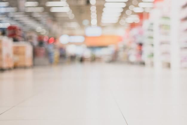 Sala de comercio en el supermercado.