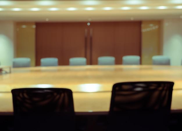 Sala de conferencias borrosa para el fondo