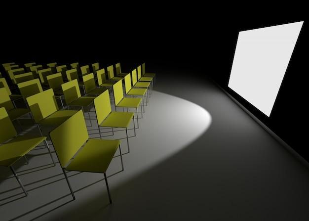 Sala de conferencias como cine