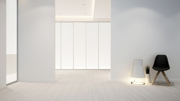 Sala de estar en apartamento u hotel - diseño de interiores - renderizado 3d