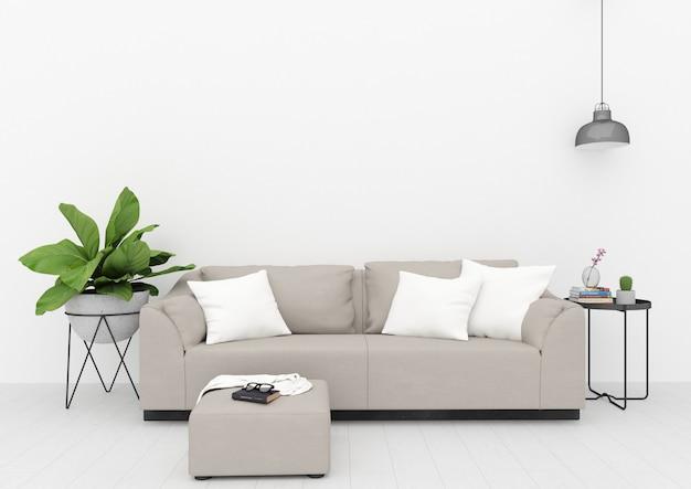 Sala de estar escandinava