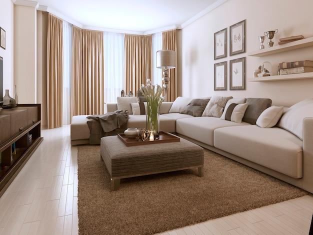 Sala de estar en estilo contemporáneo.