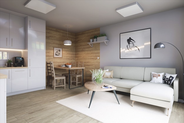 Sala de estar con estilo