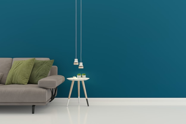 Sala de estar interior casa piso plantilla fondo maqueta diseño copia espacio