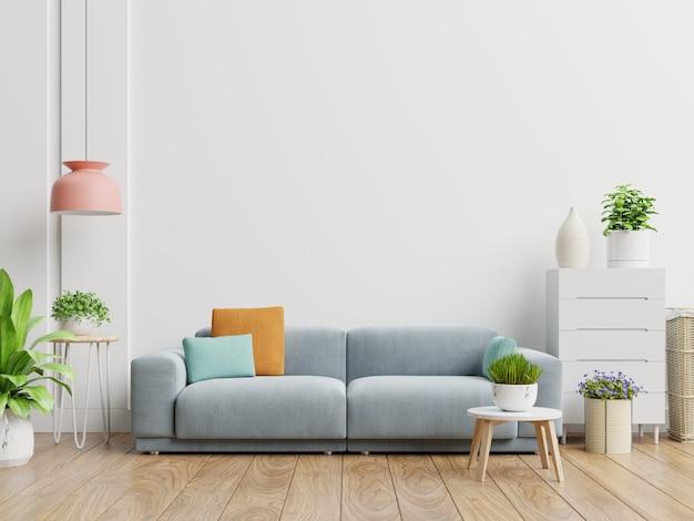 Sala de estar moderna luminosa y acogedora