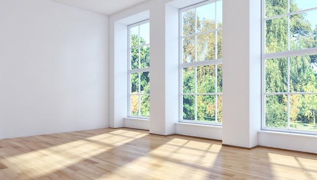 Sala de estar moderna representación 3d