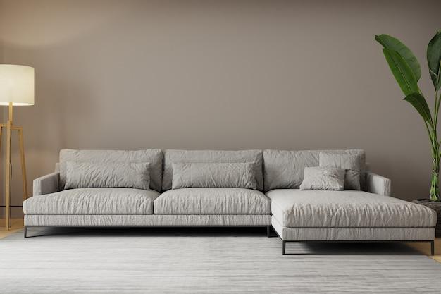 Sala de estar moderna con sofá